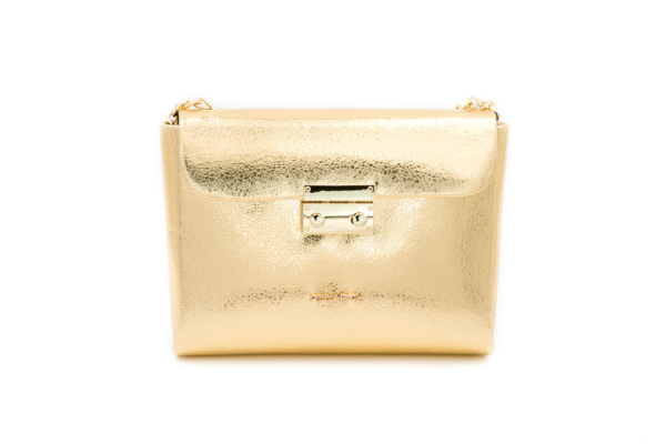 bolso dorado brillante queen