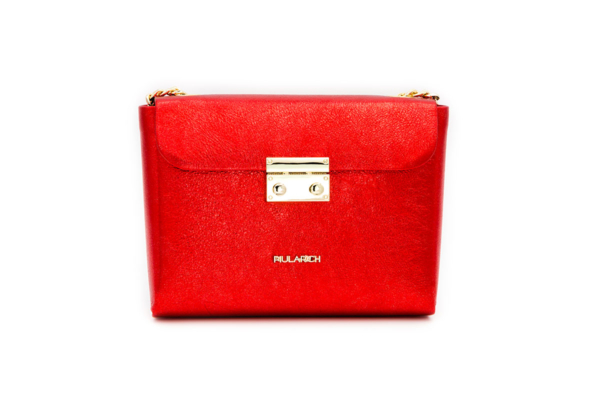 bolso rojo brillo queen