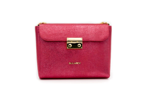 bolso queen rosa brillo