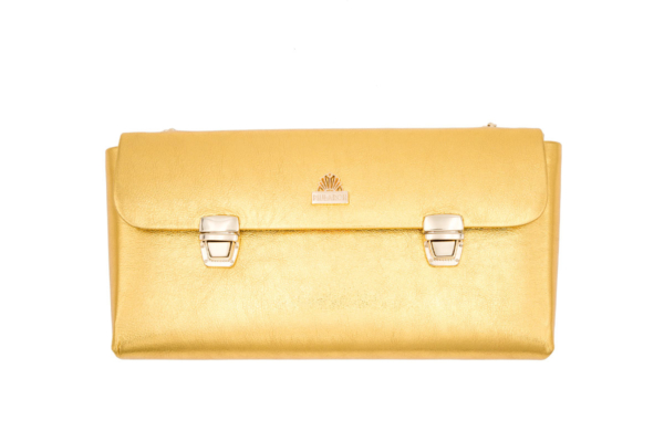 BOLSO DORADO CROWN