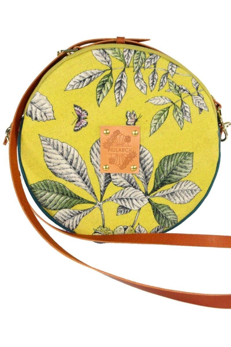 bolso-mujer-modelo- mini circus- buterfly -tela-exclusivo-original-ecológico-atemporal-divertido-flores-amarillo-mariposa-hojas
